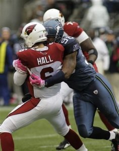 Max Hall Sacked by Raheem Brock