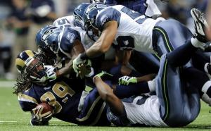 Stephen Jackson stuffed by Seahawks